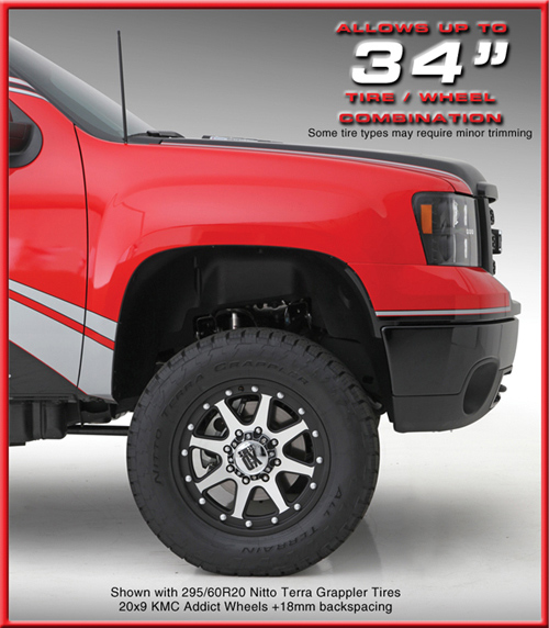 gmc, chevy, silverado lift kit, sierra lift kit, readylift, tires, nitto, kmc wheels