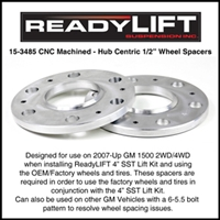 ReadyLift GM 1500 1/2 Inch Billet Aluminum Wheel Spacers -- 15-3485