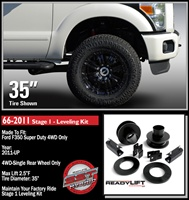 "2011-2016 Ford F350/F450 Stage 1 2.5"" Front Lift Leveling Kit -- 66-2011"
