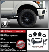 "2011-2016 Ford F350/F450 Stage 2 2.5"" Front Lift Leveling Kit -- 66-2511"
