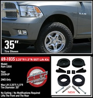 "2009-2011 Dodge Ram 1500 2WD  Front 2.25"", Rear 1.5"" Inch Lift Kit -- 69-1035"