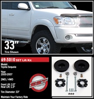 "ReadyLift 2001-2007 Toyota Sequoia 2WD/4WD 2.5"" Front, 1.5"" Rear Leveling Kit -- 69-5010"