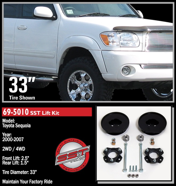 readylift   toyota sequoia wdwd  front  rear leveling kit