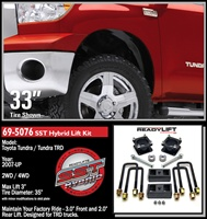 "ReadyLift 2007-2012 Toyota Tundra 2WD/4WD 3"" Front, 2"" Rear Leveling Kit Strut Extension -- 69-5076"