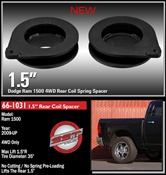 "Dodge Ram 1500, 2009-2016, 4WD Only - 1.5"" Rear Coil Spacer -- 66-1031"
