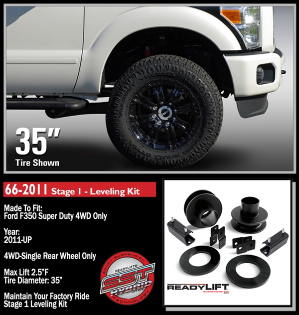 2011 2016 Ford F350 F450 Stage 1 2 5 Front Lift Leveling Kit 66