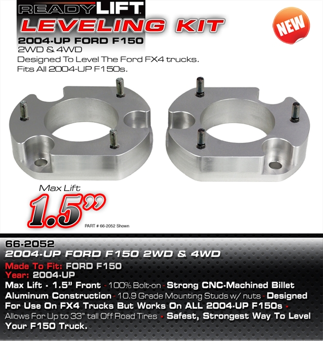 Front Ready Lift 66-2052 Suspension Leveling Kit-1.5 in