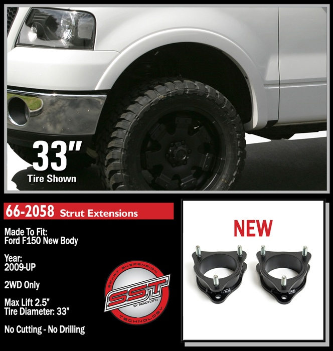 2014 F150 Leveling Kit >> Ford F150 2004 2008 2wd 4wd 2009 2014 2wd 2 5 Leveling Kit 66 2058