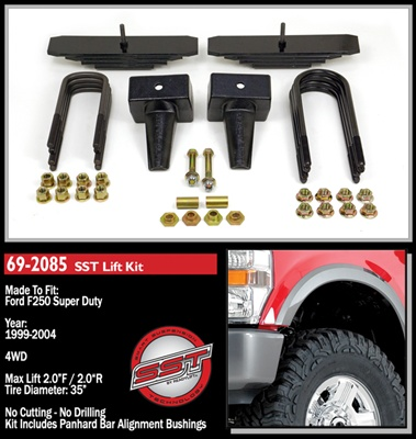 "ReadyLift 1999-2004 Ford F250 4WD 2"" Front, 2"" Rear Lift Kit -- 69-2085"
